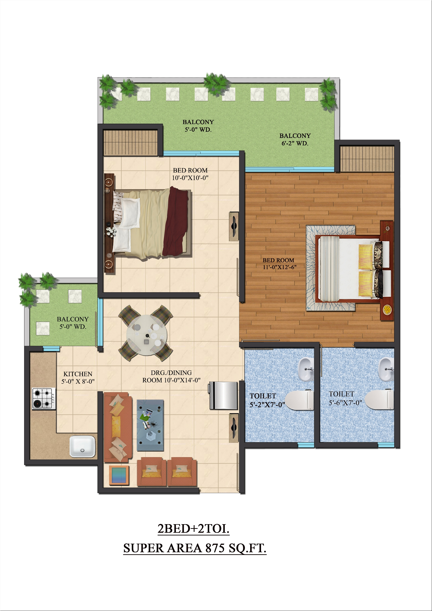Ajnara Le Garden Floor Plan, Noida Extension (Greater ...